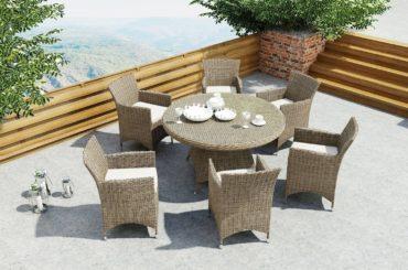 Okrągły stół na taras – stwórz idealne miejsce na kawę!